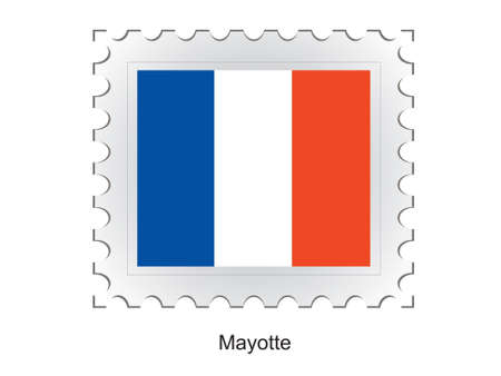 mayotte: This is Vector illustration of stamp flag