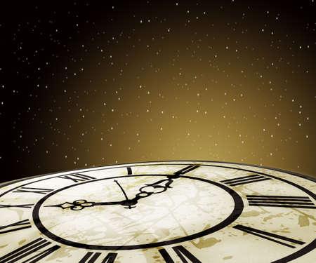 ancient pass: vector illustration of clock