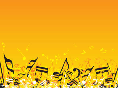 vector illustration of beautifull musical notes background enjoy the party