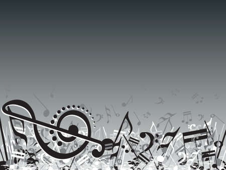 retro music: vector illustration of beautifull musical notes background enjoy the party