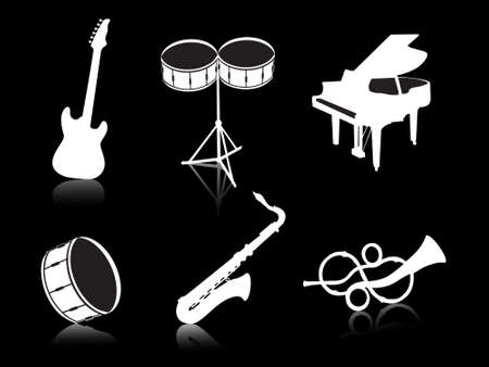 this is vector illustration musical instruments Stock Illustration - 2341000