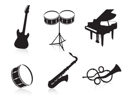 this is vector illustration musical instruments illustration