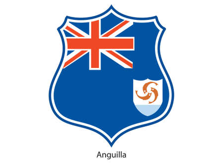 anguilla: This is vator illustration of shield of flag isolated on white background