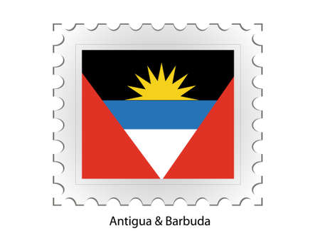 This is Vector illustration of stamp flag Stock Illustration - 2340911