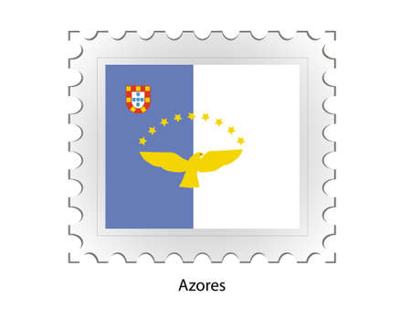 azores: This is Vector illustration of stamp flag
