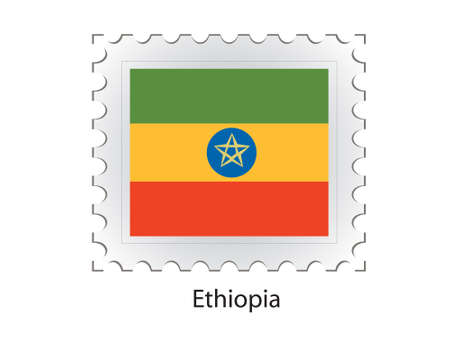 ethiopia abstract: This is Vector illustration of stamp flag