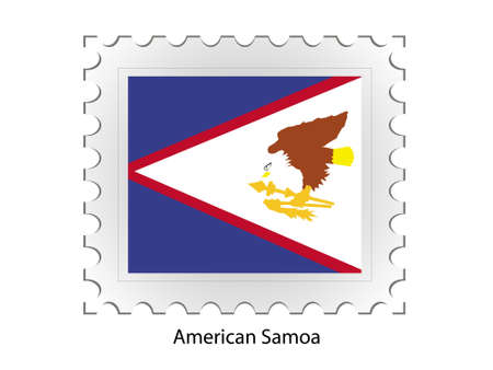 This is Vector illustration of stamp flag Stock Illustration - 2340959