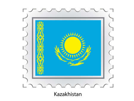 This is Vector illustration of stamp flag