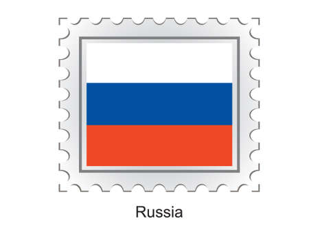 eastern europe: This is Vector illustration of stamp flag