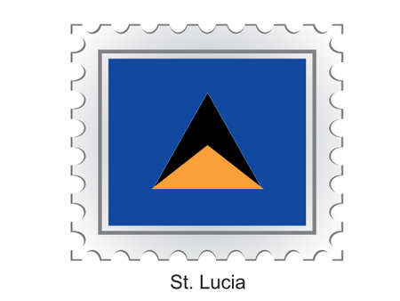 lucia: This is Vector illustration of stamp flag