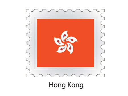 This is Vector illustration of stamp flag illustration