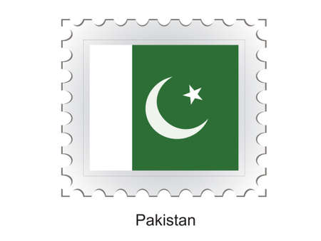 This is Vector illustration of stamp flag Stock Illustration - 2340528