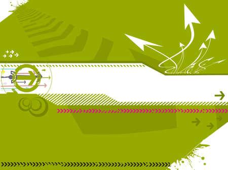 vector illustration of hi-tech grunge arrows on abstract background illustration