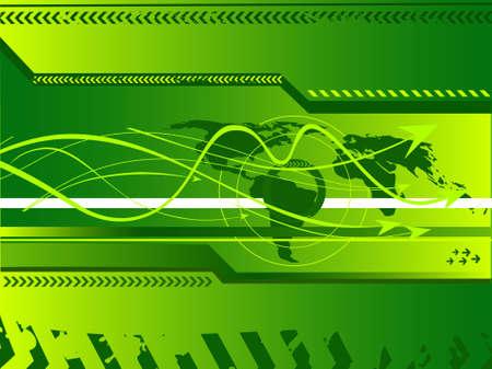vector illustration of hi-tech grunge arrows on abstract background Stock Illustration - 2357890