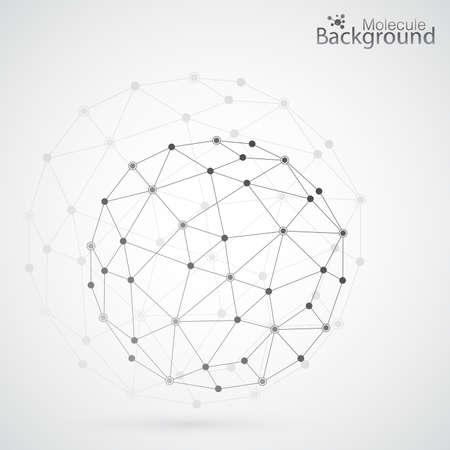 Geometric lattice, the molecules in the circle. Illustration