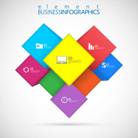 cube box: Cube box for business concepts , template Infographic , web design. Vector Illustration. Illustration