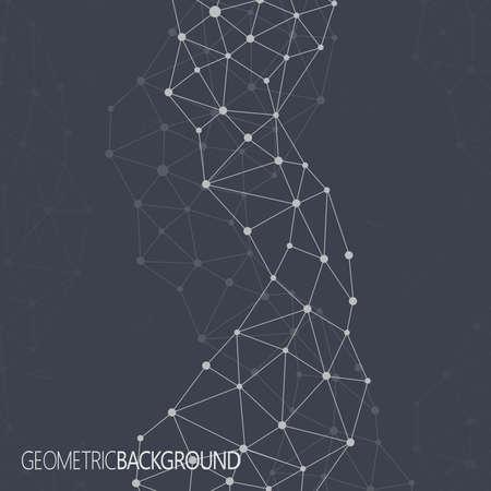 Geometrische zwarte achtergrond. Molecuul en communicatie achtergrond. Grafische achtergrond voor uw ontwerp en uw tekst. Stock Illustratie