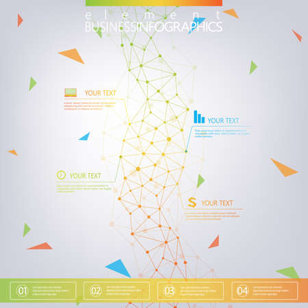 Modern design dna on gray background, concept template for infographics. Graphic background communication. 向量圖像