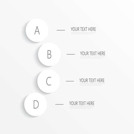 table of contents: Numbered circles infographic on light background for your design and your text. Vector illustration.