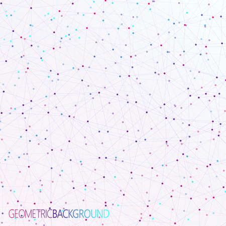 Colorful background dots with connections  for your design and your text. 矢量图像