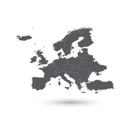 Europe map background vector illustration.  イラスト・ベクター素材