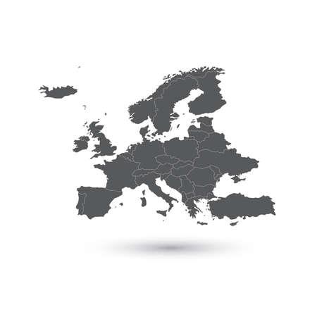 Europe map background vector illustration. 일러스트