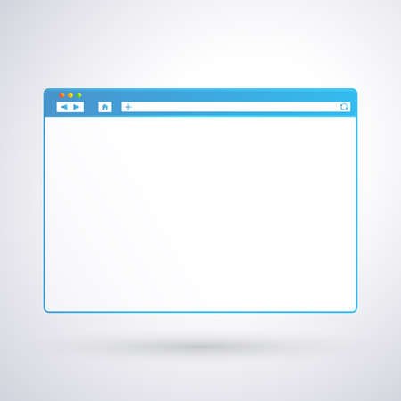 Opened browser window template on light background for your design and your text. 矢量图像
