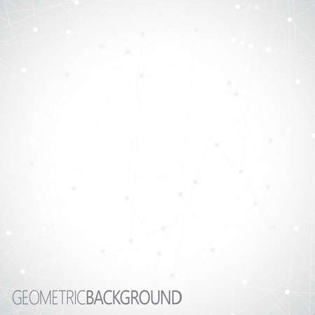 Geometric gray background. Molecule and communication background. 免版税图像 - 37144631