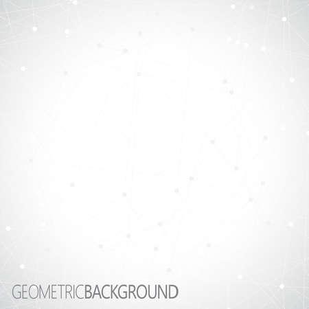 Geometrische grijze achtergrond. Molecuul en communicatie achtergrond.