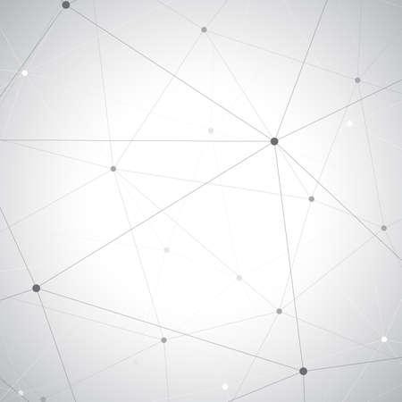 Geometric gray background. Molecule and communication background.