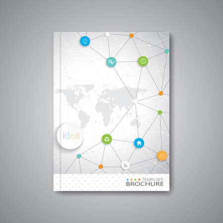 Moderne abstracte sjabloon lay-out voor brochure, tijdschrift, flyer, brochure, dekking of rapport in A4-formaat voor uw ontwerp en uw tekst. Vector Illustratie.