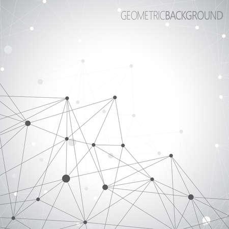 Geometrische grijze achtergrond. Molecuul en communicatie achtergrond. Grafische achtergrond voor uw ontwerp en uw tekst.