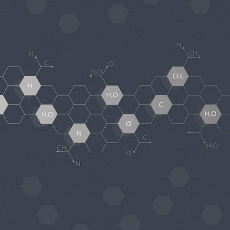 encoded: Dna molecule on black background. Graphic background for your design and your text .Vector Illustration.
