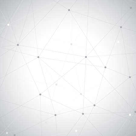 Geometric gray background. Molecule and communication background.