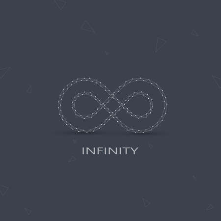 limitless: Geometric Limitless sign . The concept of eternity. Modern Logo. Illustration