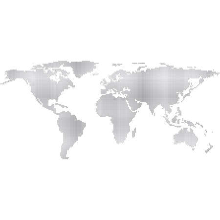 Dots Grau Weltkarte. Moderne Vektor Illustration. Standard-Bild - 37833525