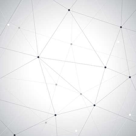 Geometric gray background. Molecule and communication vector illustretion.