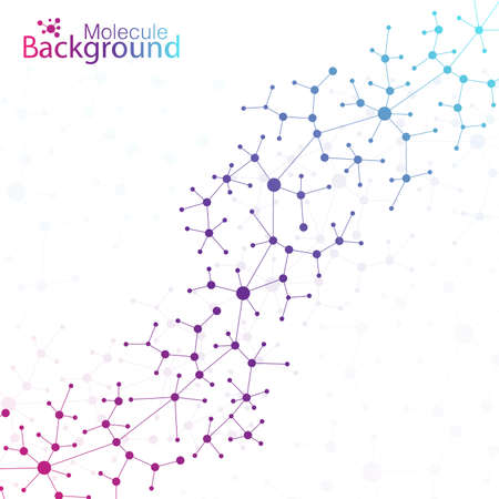 data bases: Geometric colorful background. Molecule and communication background. Graphic background for your design and your text. Illustration