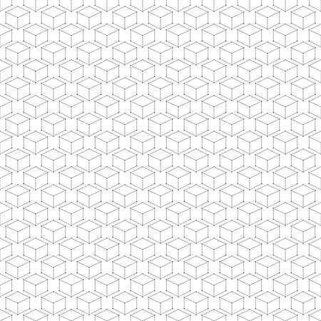 Seamless Modern Abstract Geometric Pattern Dot With Rhombuses. Repeating Background Vector Illustration. Vector