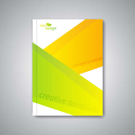 Modern abstract template layout for brochure, magazine, flyer, booklet, cover or report in A4 size for your design and your text . Vector Illustration.