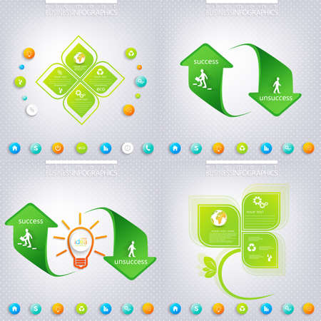 3 4: Modern green infographic design with place for your text. Business concept with 3, 4 options. Can be used for workflow layout, diagram, chart, number options, web design.