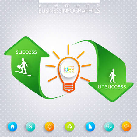 unsuccess: Success and Unsuccess Modern template infographic .