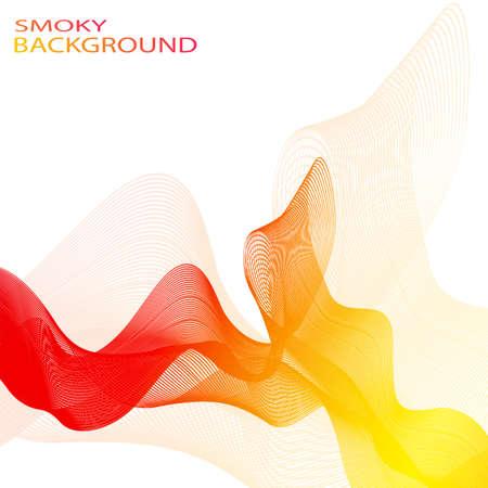 smoky: Colorful smoky waves background .