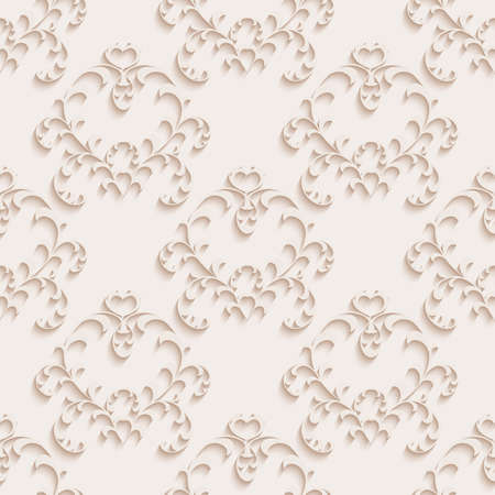 wallpaper pattern: Floral seamless wallpapers in the style of Baroque . Can be used for backgrounds and page fill web design. Illustration