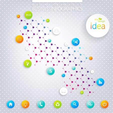 Modern infographics design dna on gray background. Vector illustration.