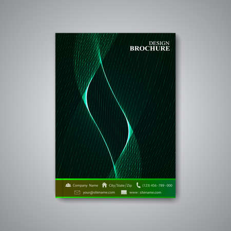 Modern abstract template layout  brochure, magazine, flyer, booklet, cover or report in A4 size for your design . Vector Illustration. Vector