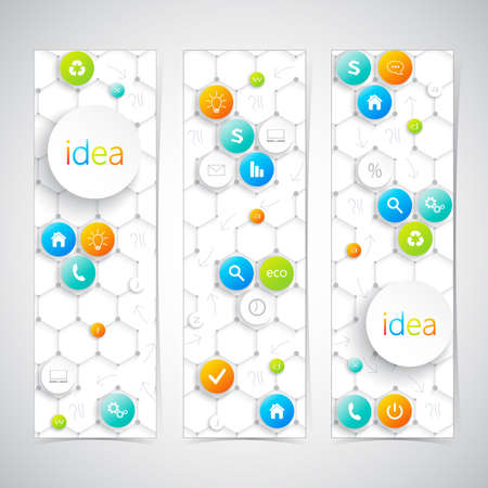 Modern infographics banner with icons. Vector illustration. Vector