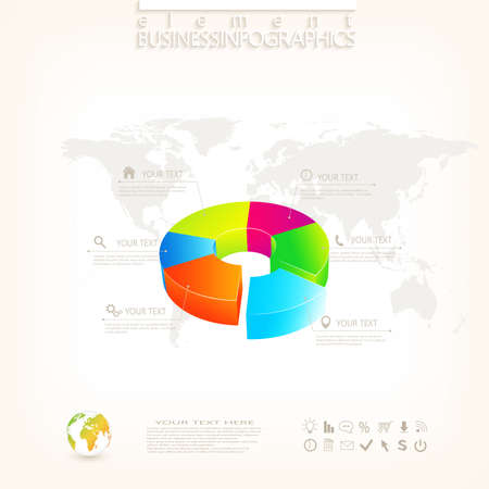 Modern 3d infographic design with place for your text , workflow, layout, chart,  options, web design. Vector  illustration. Vector