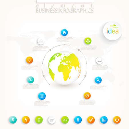 Modern 3d infographic design