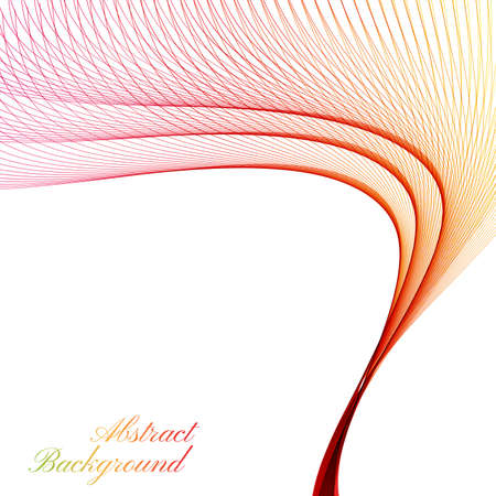 curved lines: Abstract curved lines on bright background. Illustration